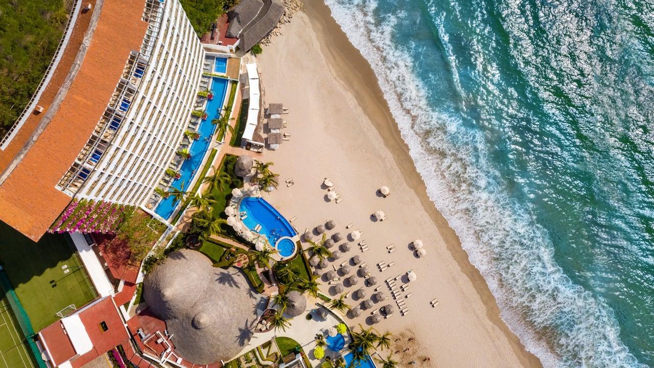 Hyatt Ziva Puerto Vallarta Beach Aerial Image