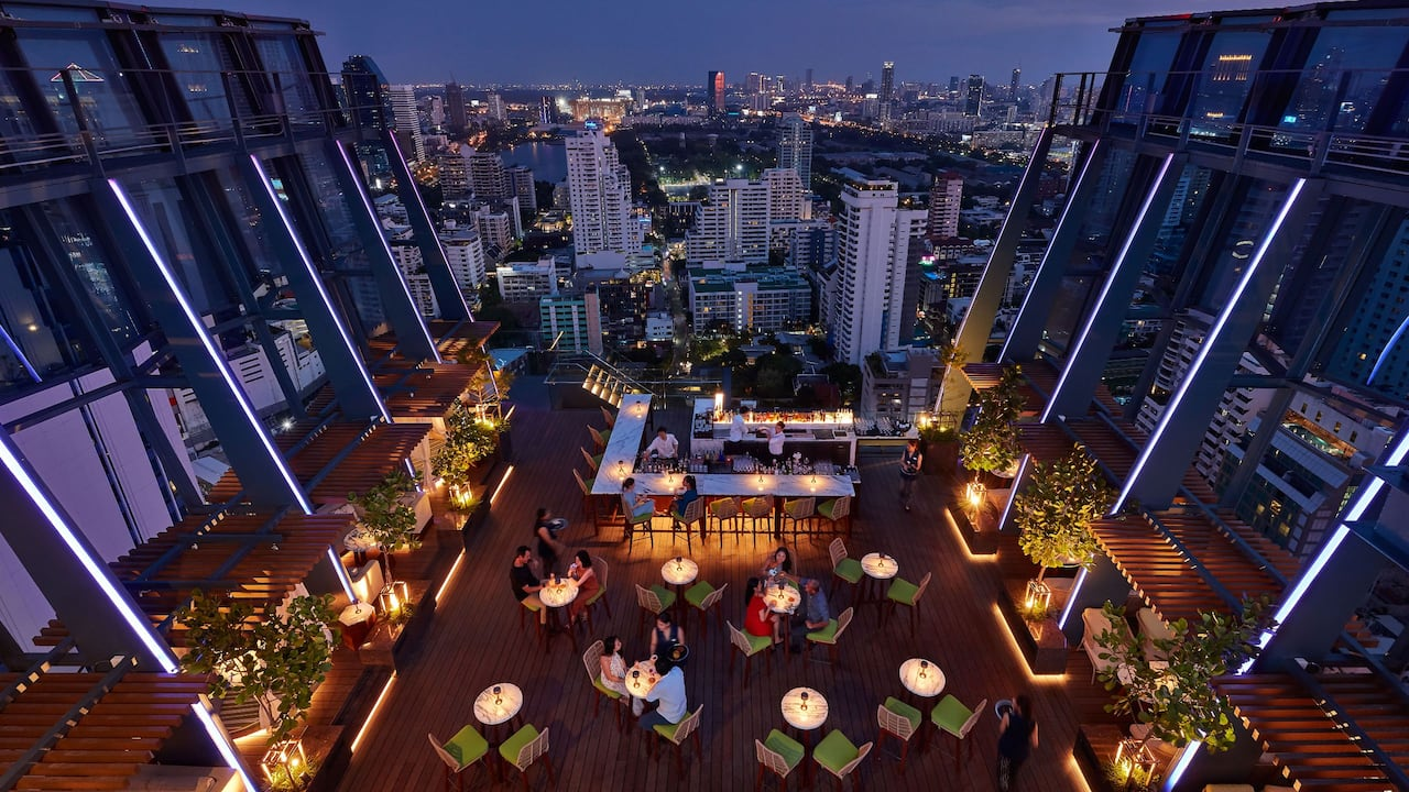 Best Rooftop Bar in Bangkok at Spectrum Lounge & Bar