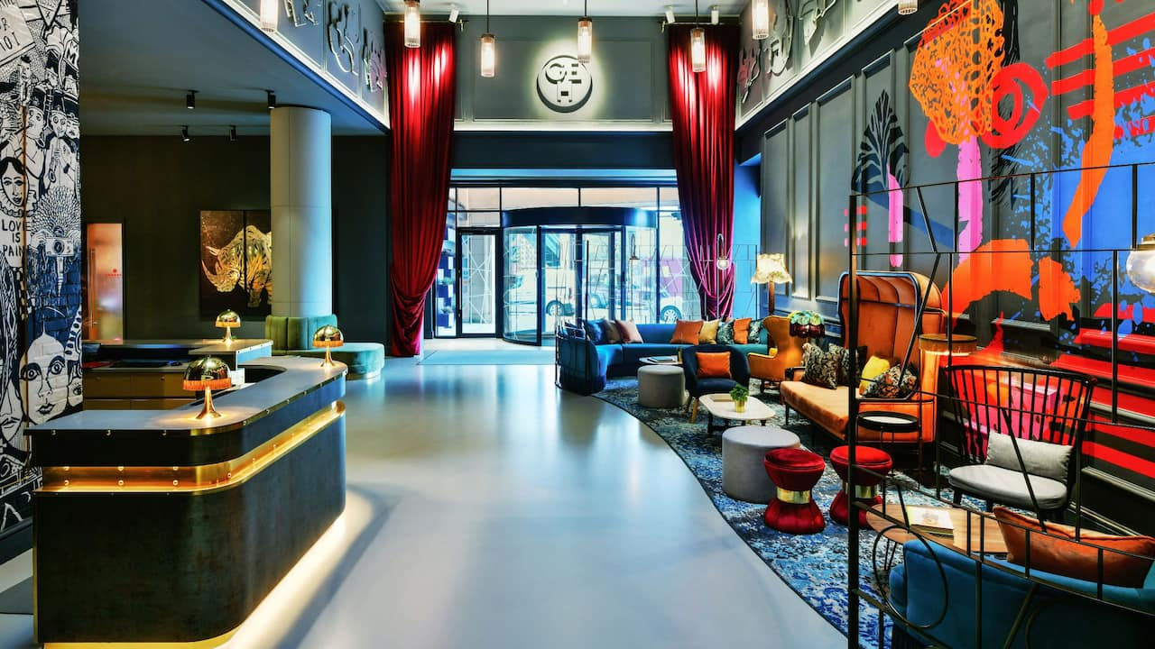 Quirky hotel lobby | Andaz London Liverpool Street