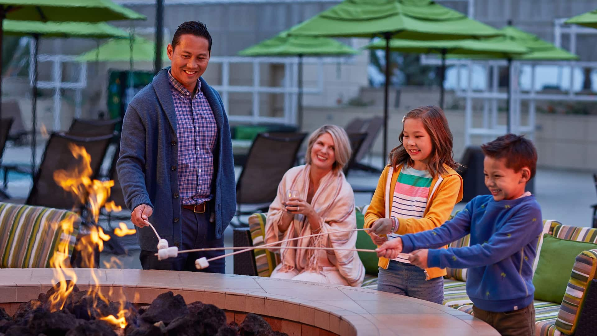 Firepit at Hyatt Regency Orange County