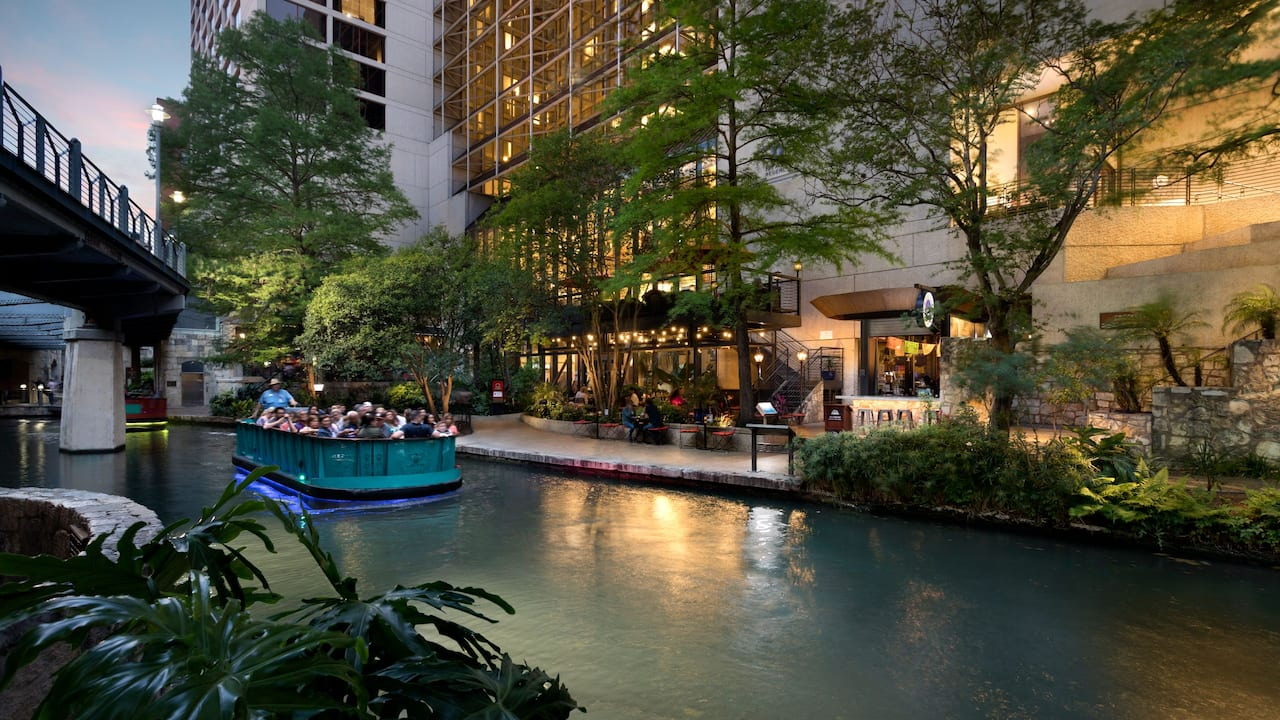 Hotel next to the Riverwalk in San Antonio