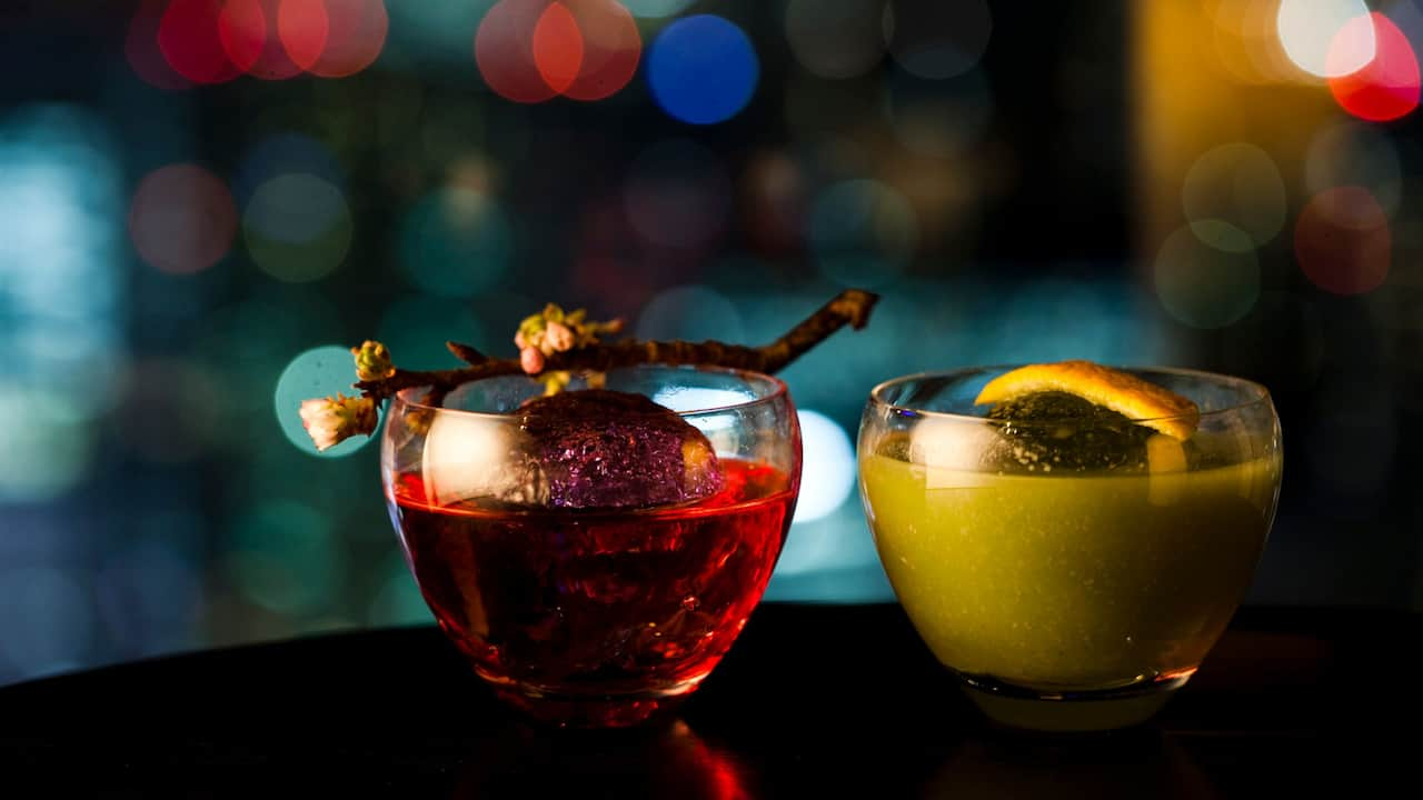 [Rooftop Bar] Cocktails 'Sakura chan' and 'Kyohime Amazake'