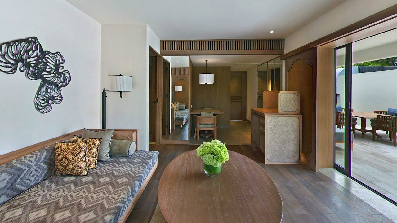 Living Room Regency Suite with 1 King Bed at Hyatt Regency Bali