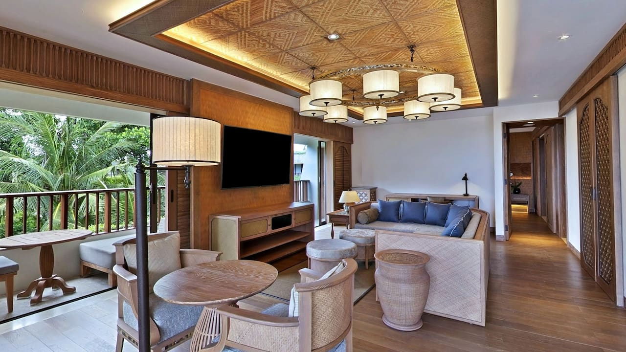 Executive Suite Living Room at Hyatt Regency Hotel Bali