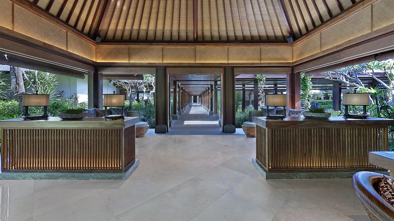 The Shankha Spa Reception at Hyatt Regency Bali