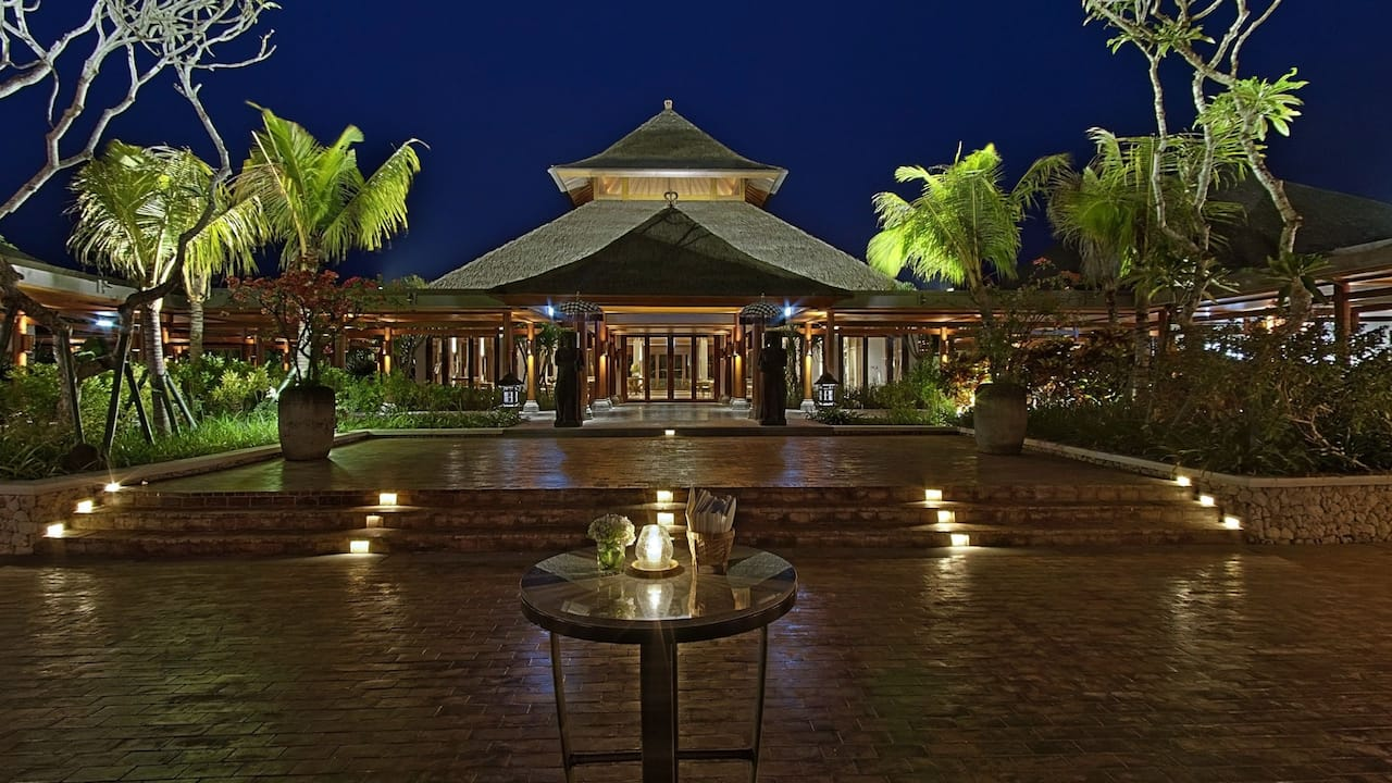 Outdoor Courtyard at Luxury Resort Hyatt Regency Bali