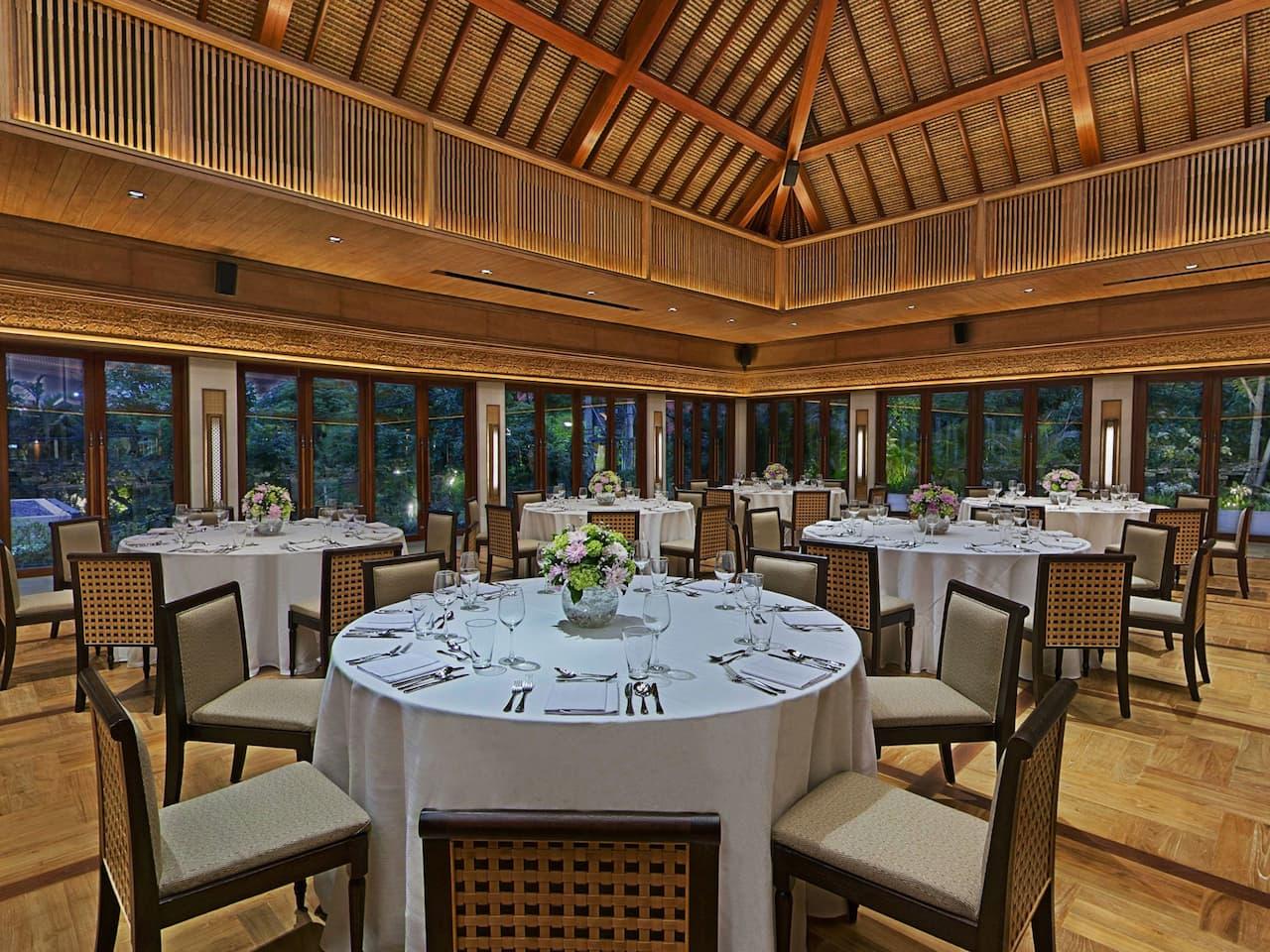 Banquet Setup at Hyatt Regency Bali's Ballroom