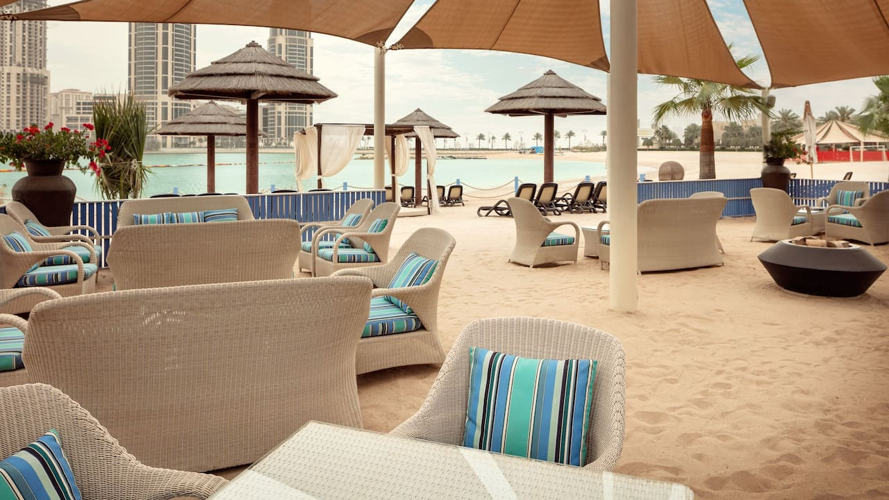 Beach Seating at Grand Hyatt Doha Hotel & Villas