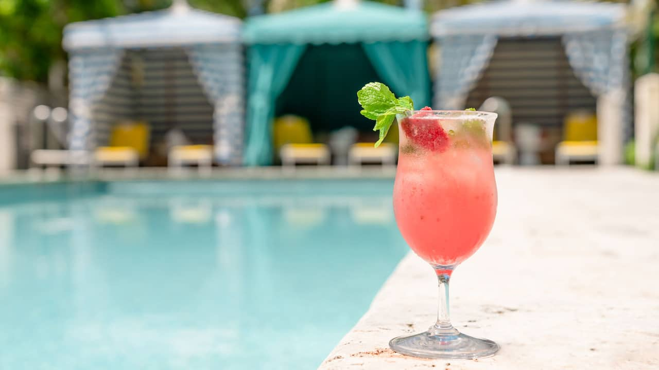 Strawberry Spritz in Miami Beach at The Confidante Miami Beach