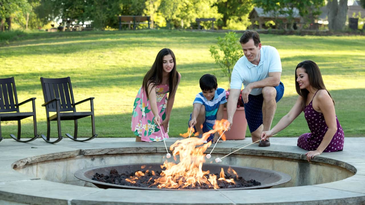 Smores firepit family