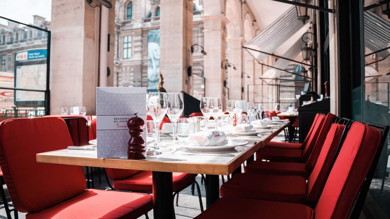 Brassier du Louvre Summer Terrace at Hotel du Louvre Restaurant Reopening