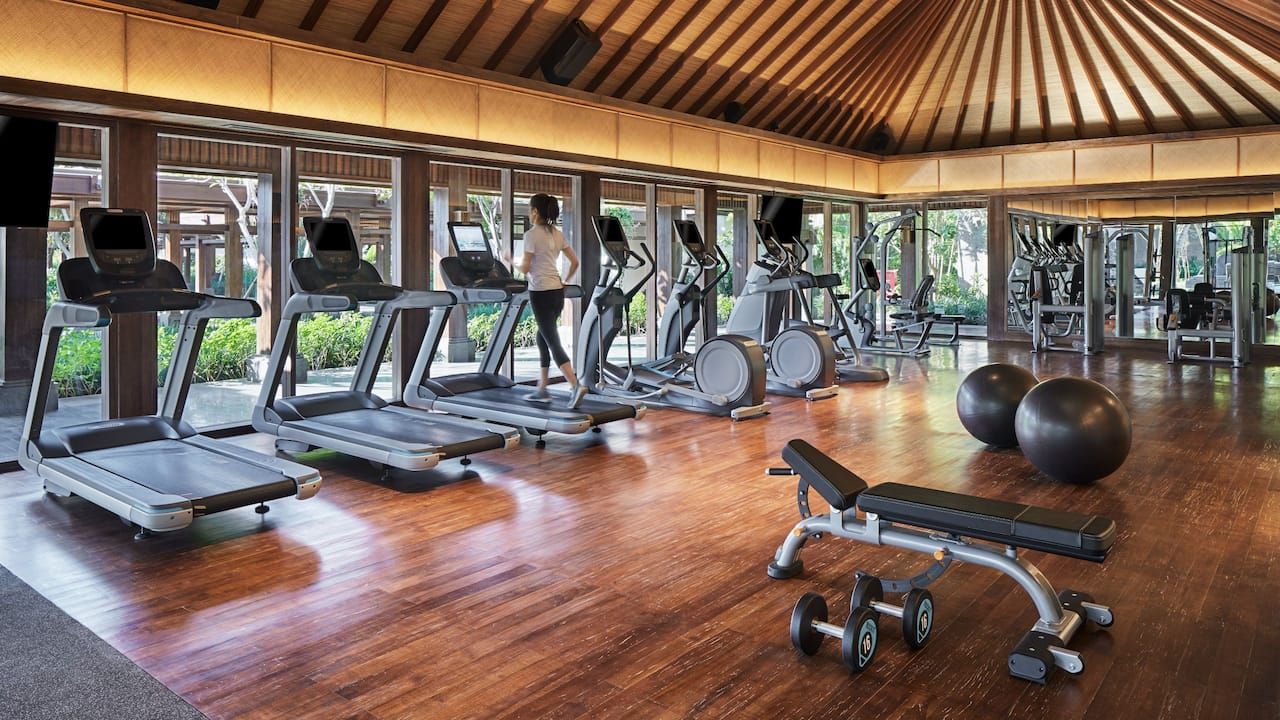 Best Beach Resorts in Bali (Fitness Center Hyatt Regency Bali)