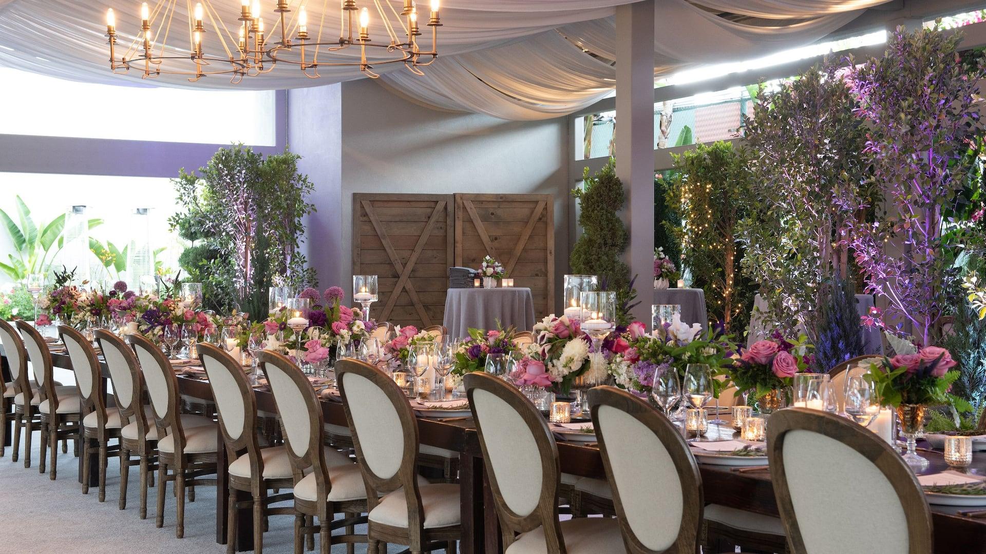 wedding table aisle