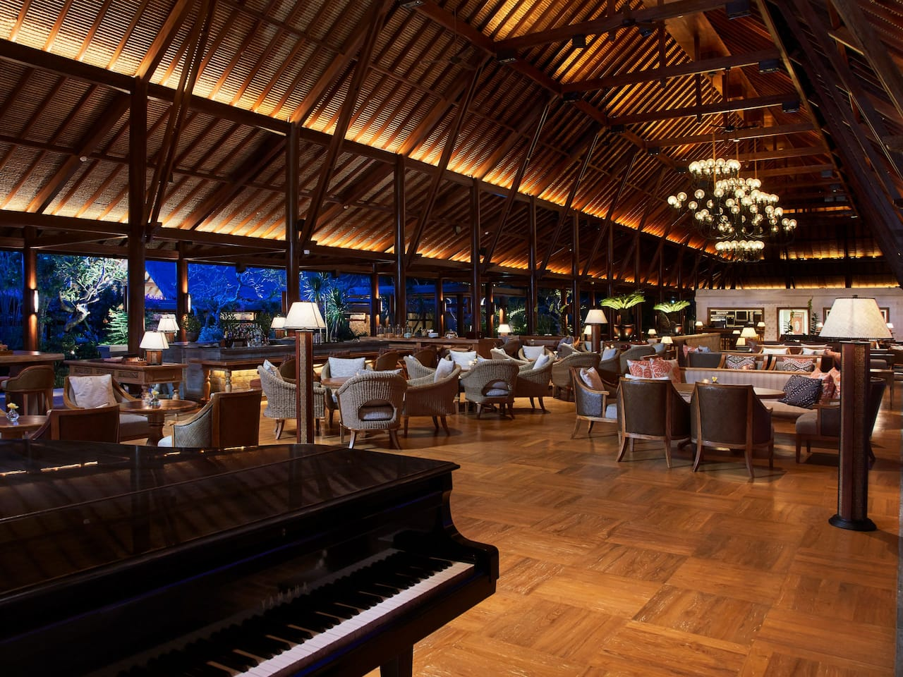 Pianists at Piano Lounge The Hyatt Regency Bali