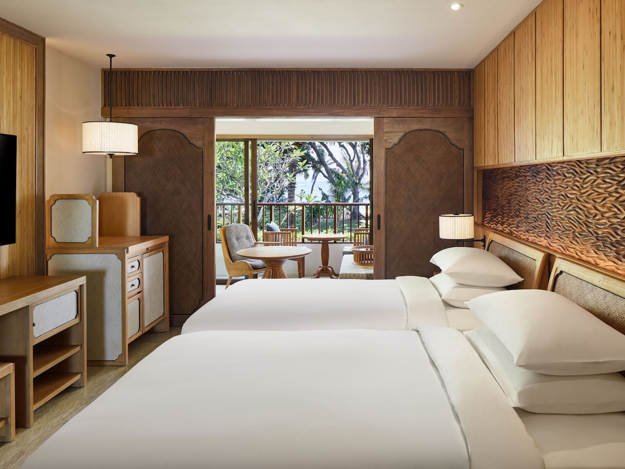 2 Twin Beds Deluxe Room The Hyatt Regency Resort Bali