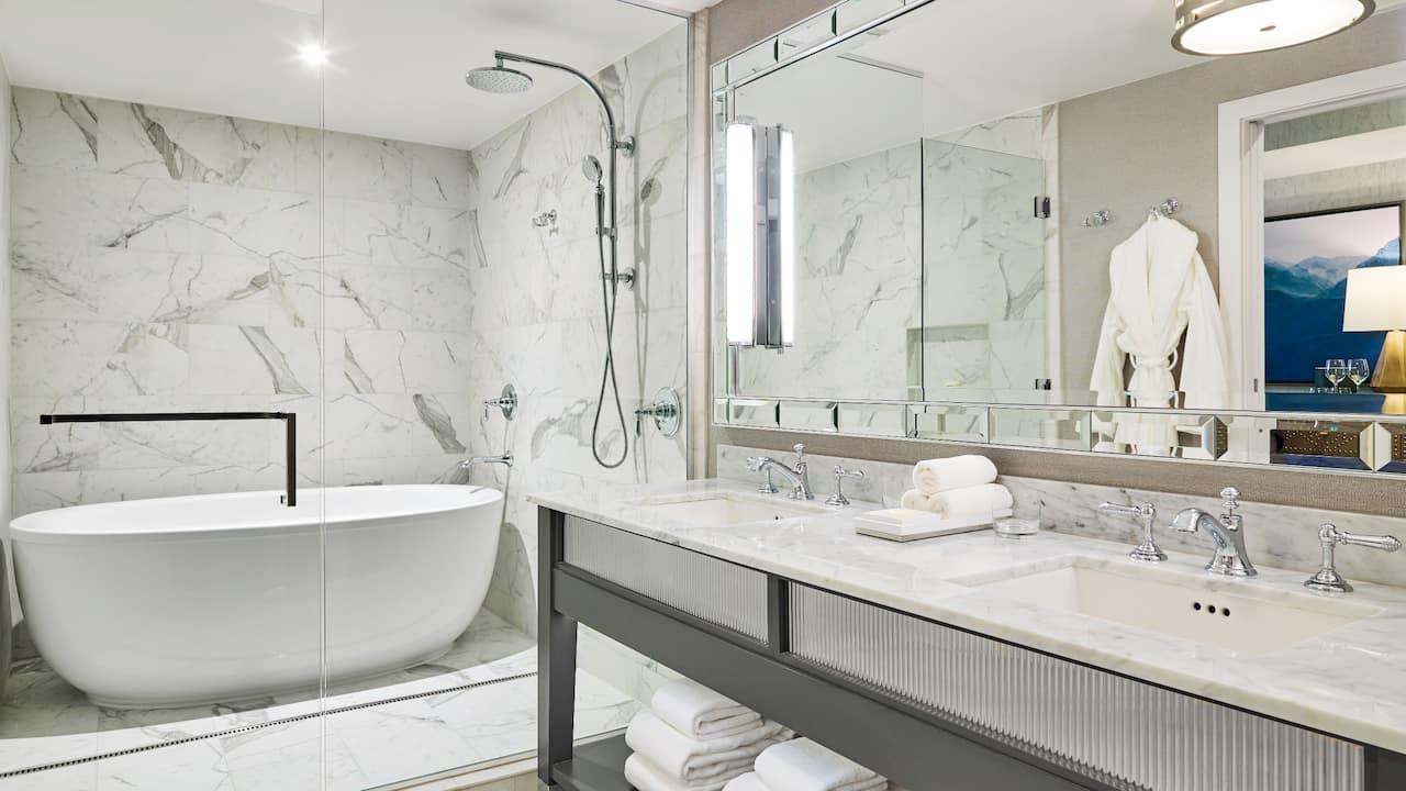 Five Fixture Guestroom Bathroom