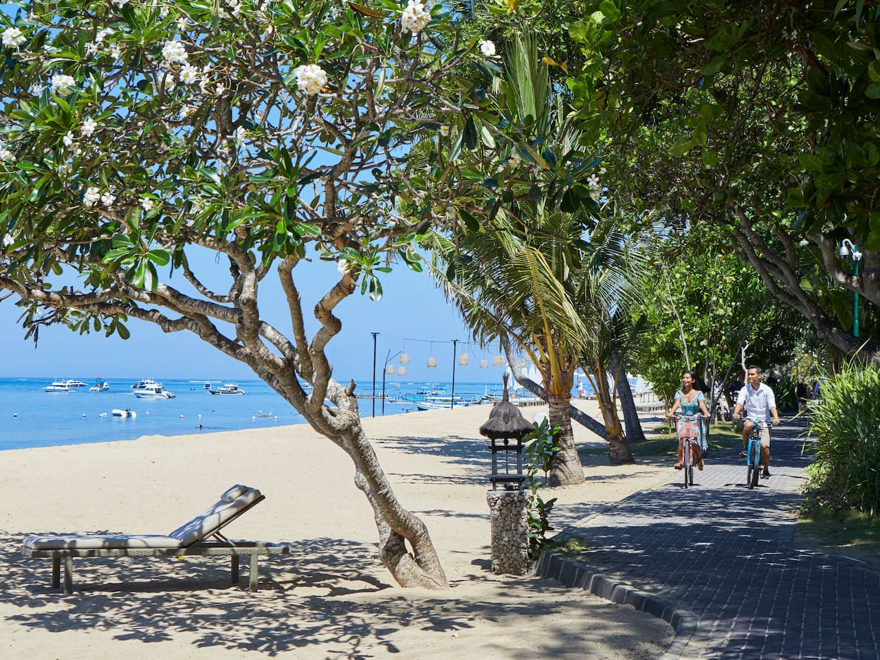 Cycling by the Beach in Sanur