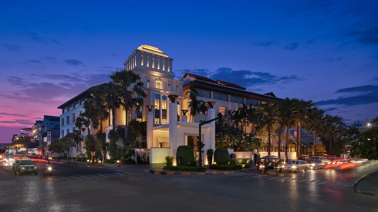 Luxury 5-star hotel in Siem Reap exterior