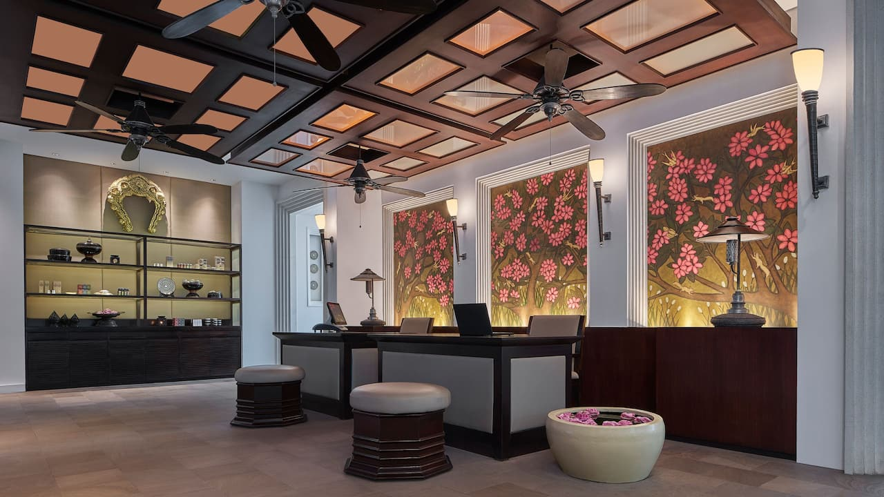 Luxury 5-star hotel in Siem Reap Spa Reception Area