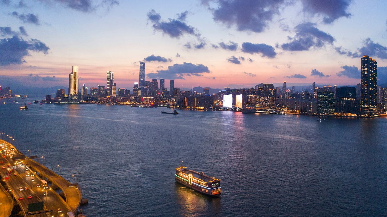 Hyatt Centric Victoria Harbour Panoramic Sunset View