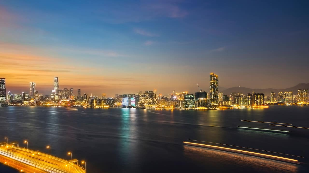 Hyatt Centric Victoria Harbour Panoramic Night View