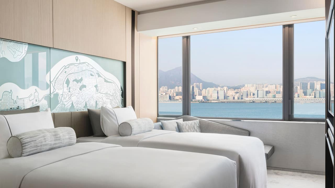 Hyatt Centric Victoria Harbour Hong Kong 2 Twin Beds with Harbourview