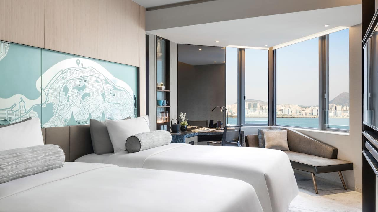 Hyatt Centric Victoria Harbour Hong Kong 2 Twin Beds