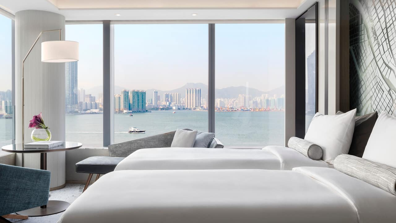 Hyatt Centric Victoria Harbour Hong Kong 2 Twin Beds Harbour View Deluxe