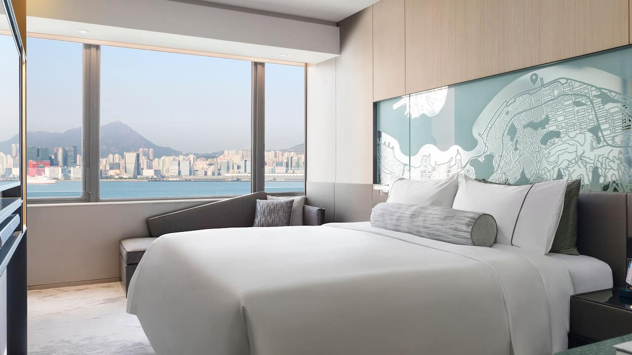 Hyatt Centric Victoria Harbour Hong Kong 1 King Bed Harbour View