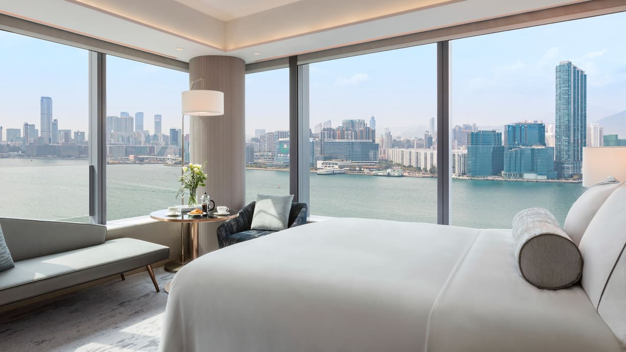 Hyatt Centric Victoria Harbour Hong Kong 1 King Bed Harbour View Deluxe