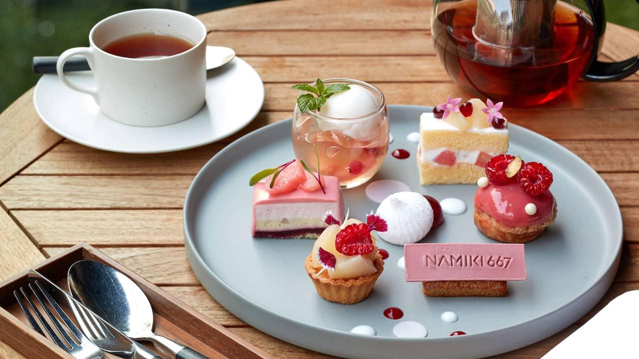 Peach Cake Set