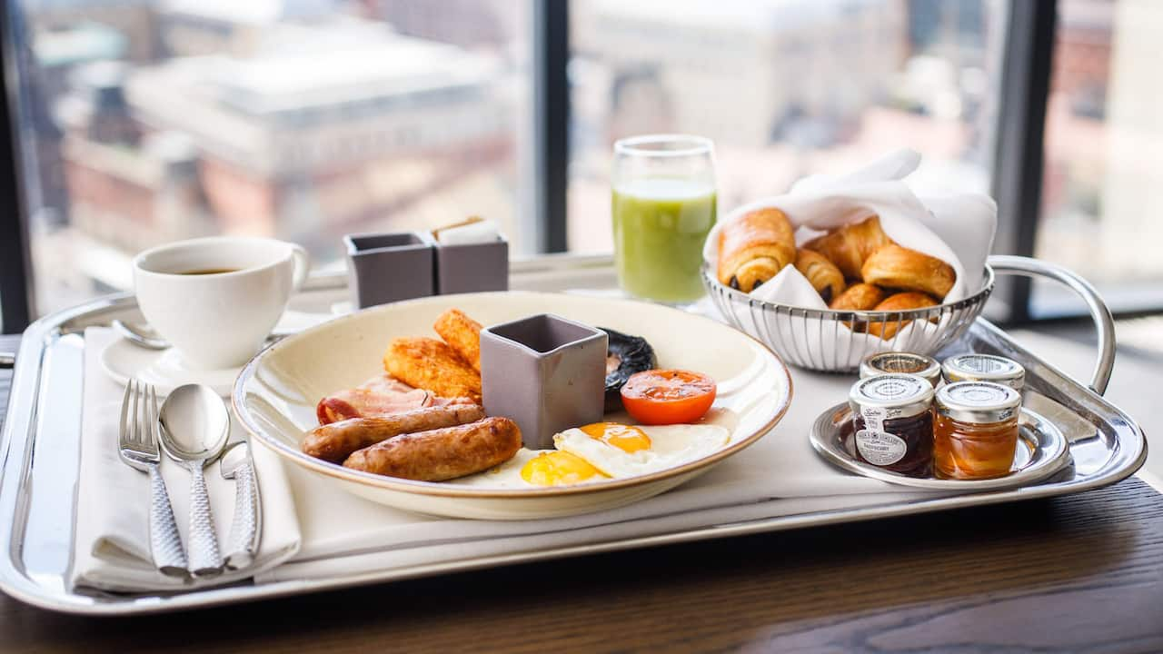 Breakfast Room Service at Hyatt Regency Birmingham