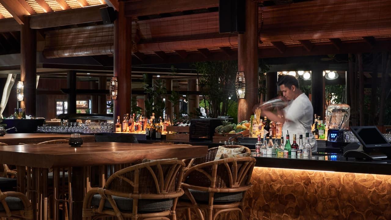 Food, drink and venue of bar Pizzaria Italian restaurant Sanur Bali