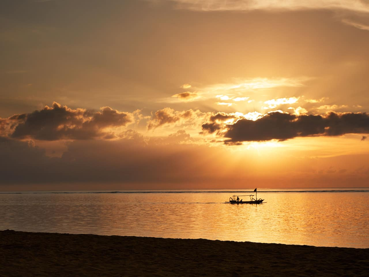Beautiful Sunrise in Sanur Beach, Bali