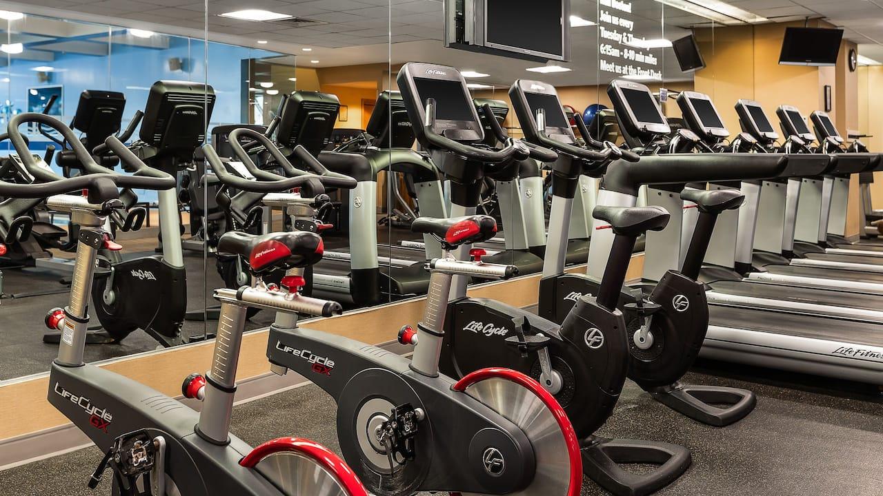 Fitness Room Bikes