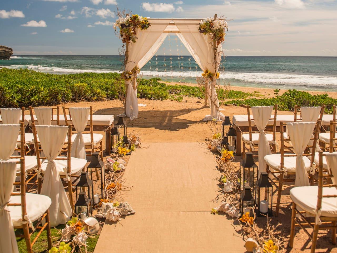 Grand Hyatt Kauai Resort Reception Dinner Setup