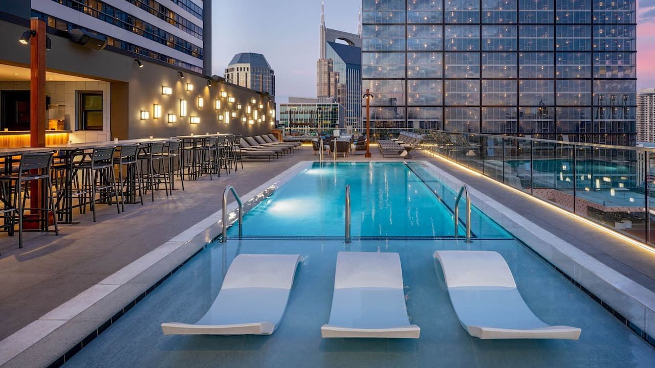 Nashville hotel with rooftop pool