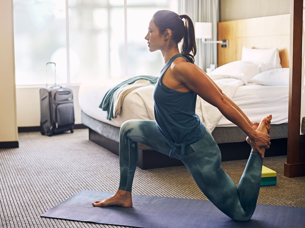 In-Room Fitness Woman