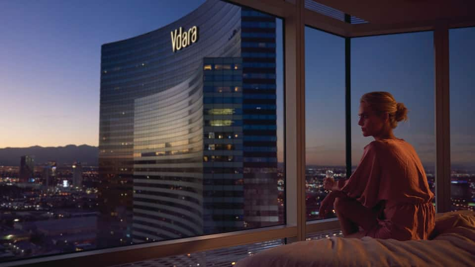 Aria Guestroom View of Vdara