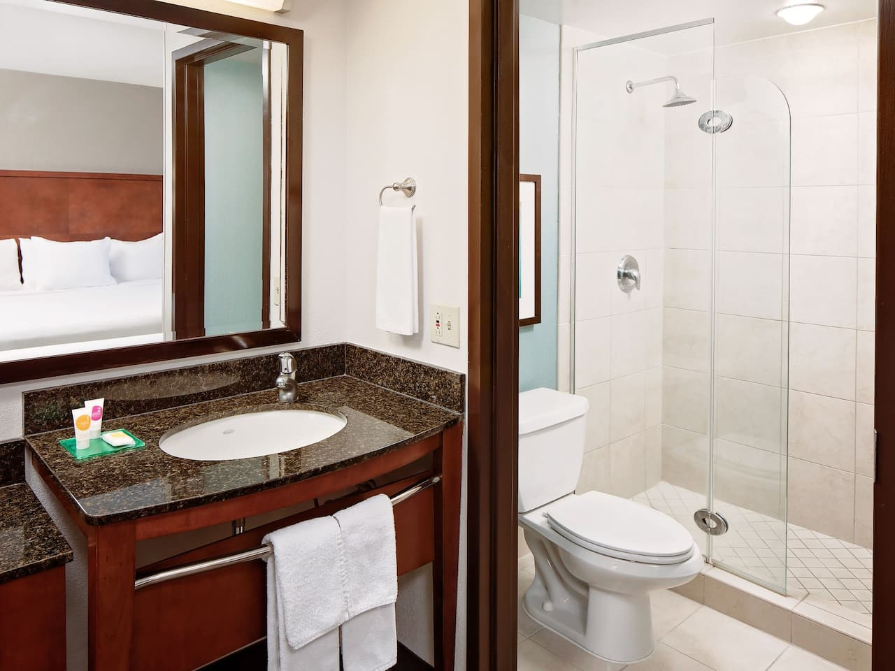 bathroom at hyatt place ontario rancho cucamongo
