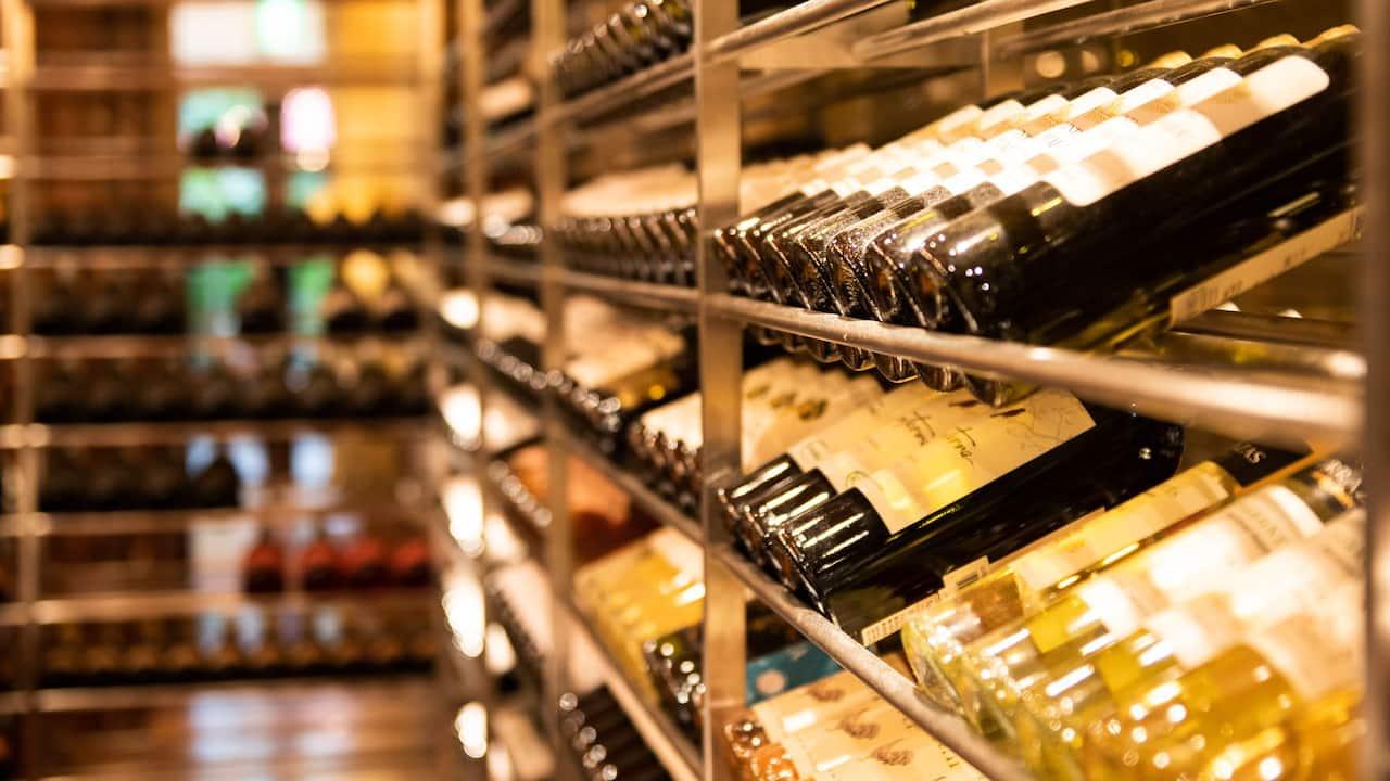 Hyatt Regency Hakone Resort and Spa | Dining room wine cellar