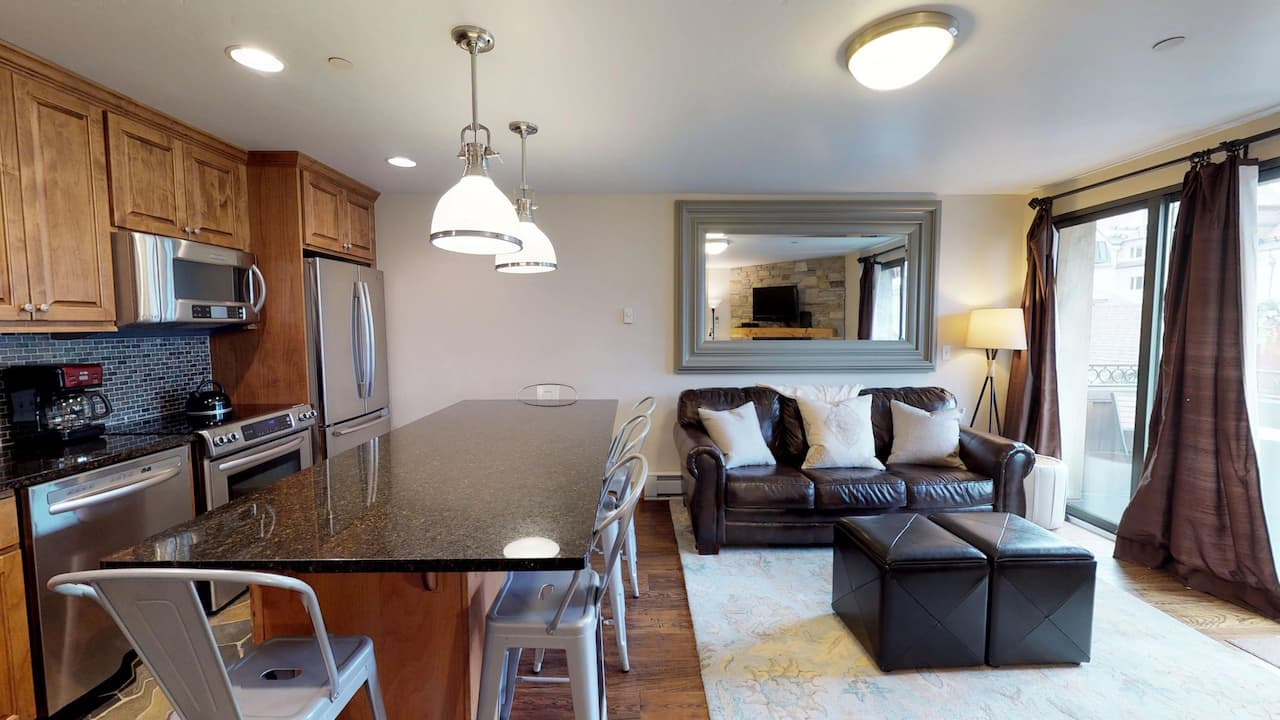 1 bedroom condo with 2 baths, platinum
