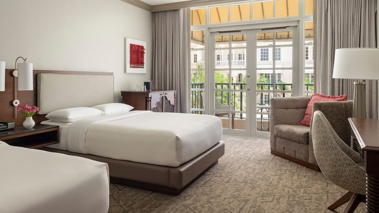 Double Beds with Balcony Hyatt Regency Coral Gables