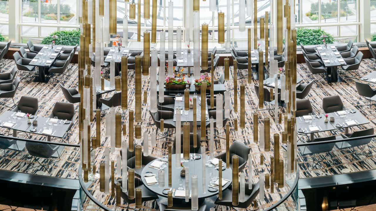 Panorama of the Glashaus Restaurant at Hyatt Regency Cologne