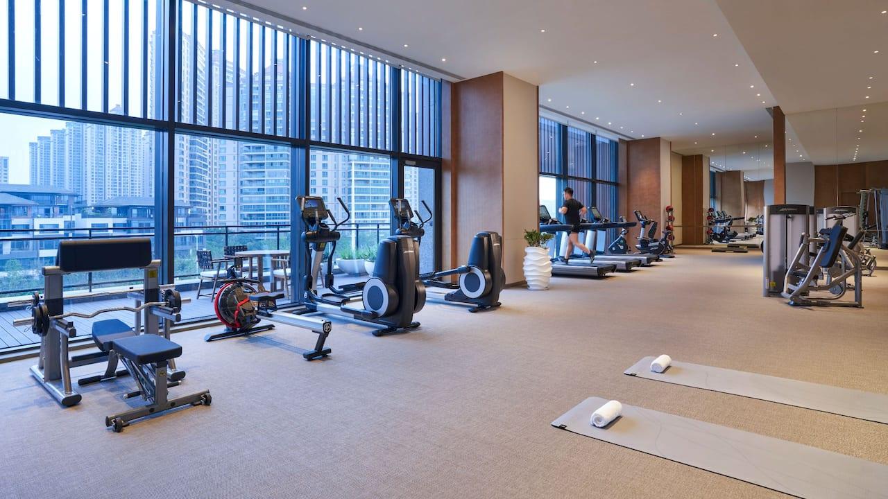 Fitness Center with Runner