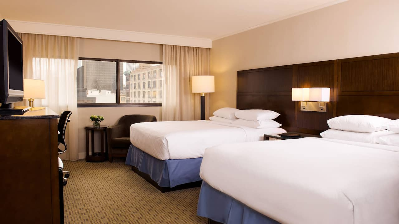 double guestroom at hyatt regency milwaukee