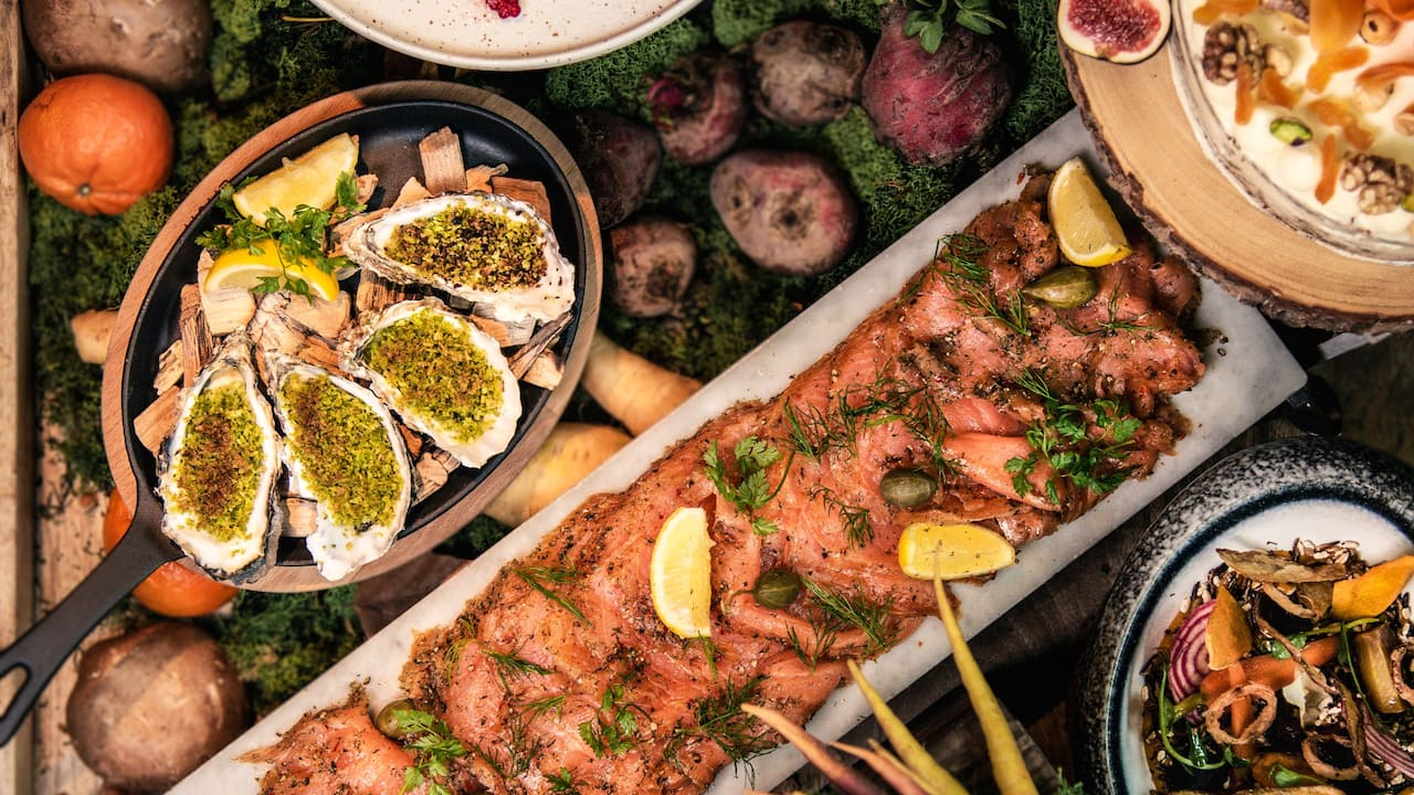 Sunday Garden Brunch buffet at The Montagu Kitchen in Marylebone