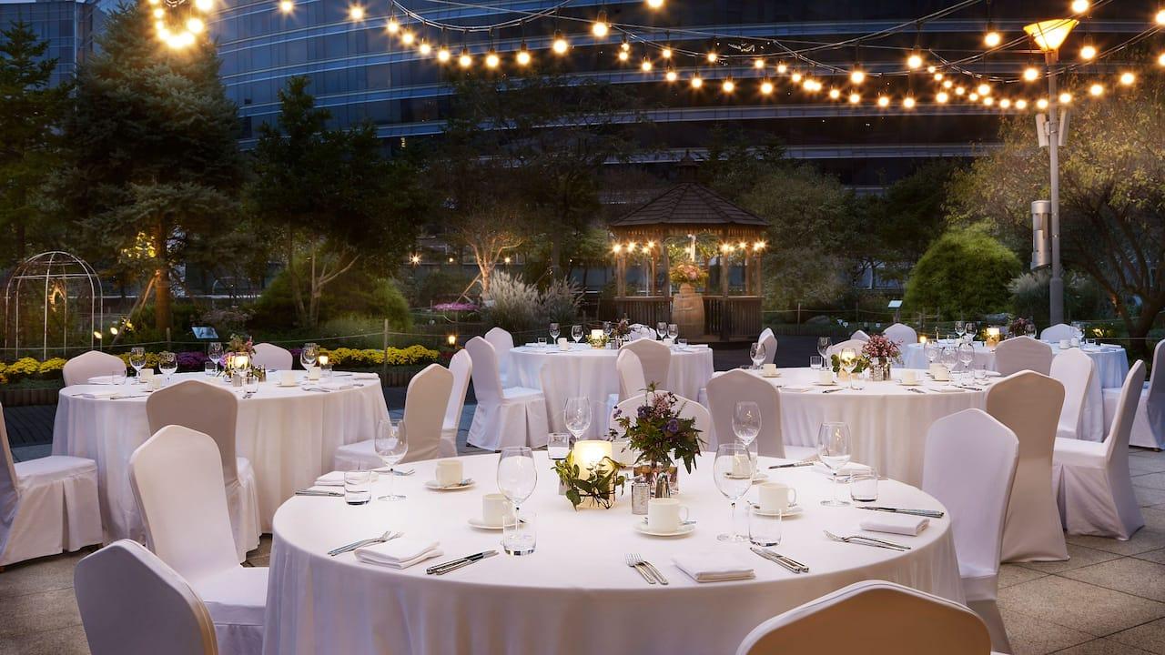 Terrace Garden with Gazebo - Perfect for Outdoor Weddings