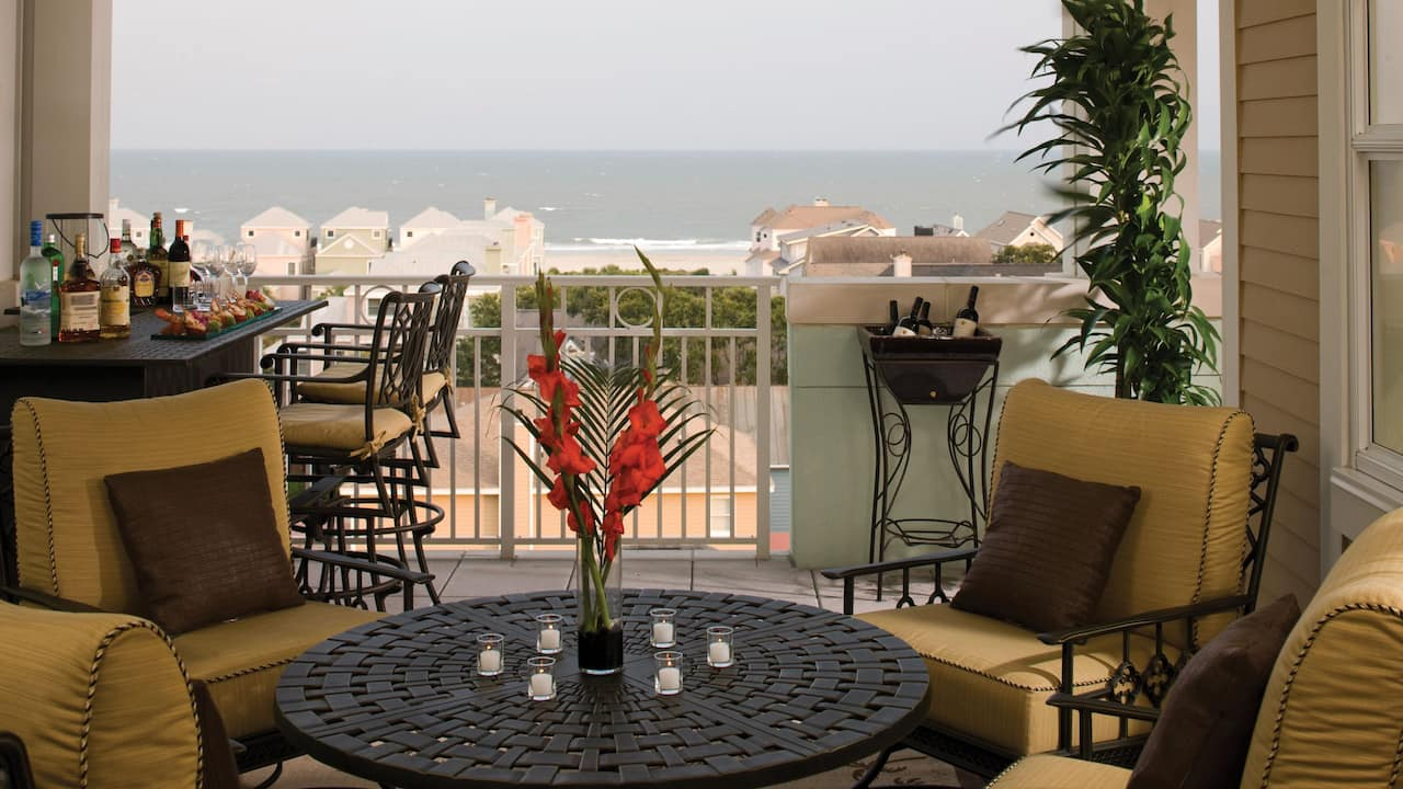 Wild Dunes Resort Penthouse Balcony, Boardwalk Inn