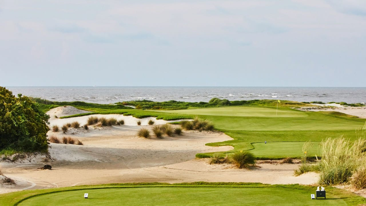 Hole 18 of The Links Course at Wild Dunes